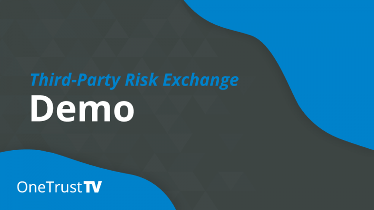Third-Party Risk Exchange Demo